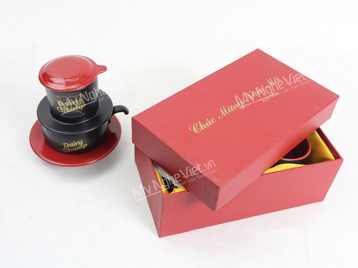 Phin cà phê gốm in logo quà tặng
