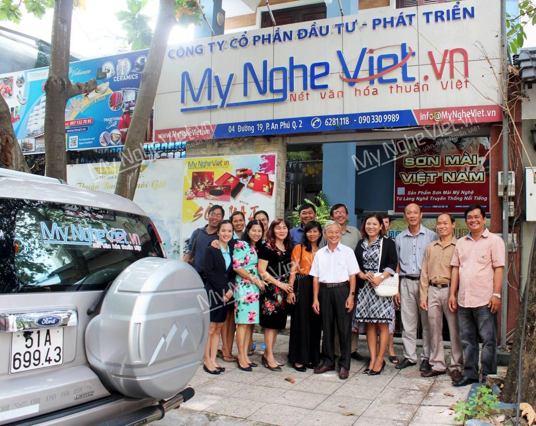 Cuộc họp thường niên của ban điều hành Hiệp hội sơn mài tại Mỹ Nghệ Việt