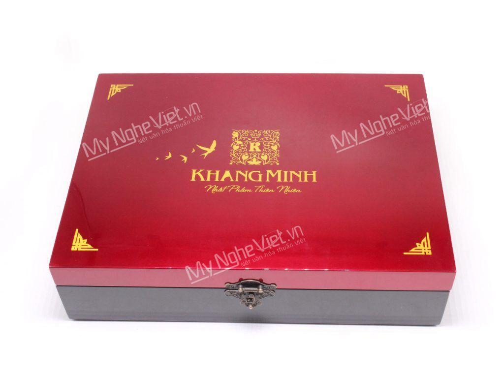 Hộp bánh trung thu sơn mài cao cấp Khang Minh
