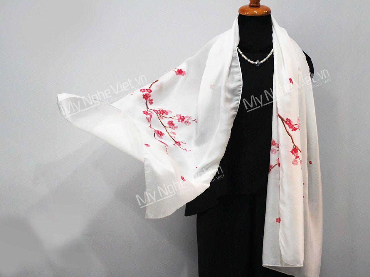 Quà tặng sếp nữ khăn lụa Hà Đông cao cấp