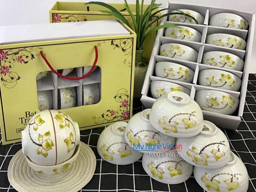 Bộ bàn ăn hoa sen 10 sản phẩm