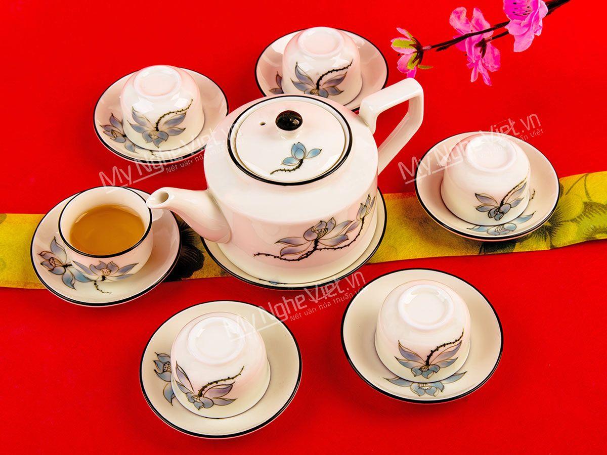Bình trà in logo quà tặng Tết