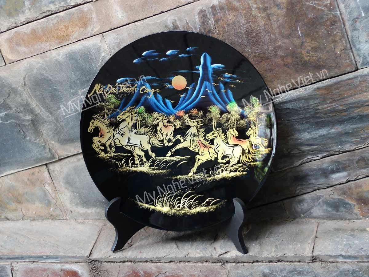 Tranh đĩa sơn mài Mỹ Nghệ Việt