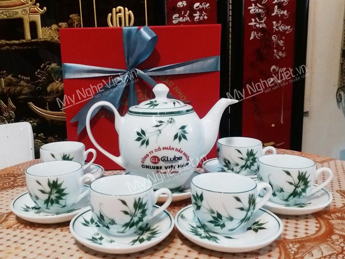 Bộ bình trà in logo