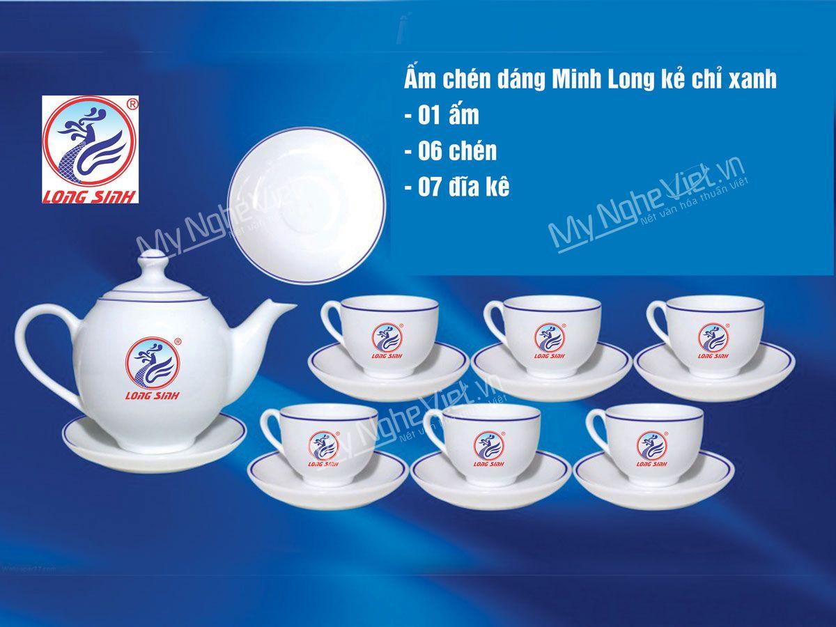 Bộ bình trà quà tặng in logo