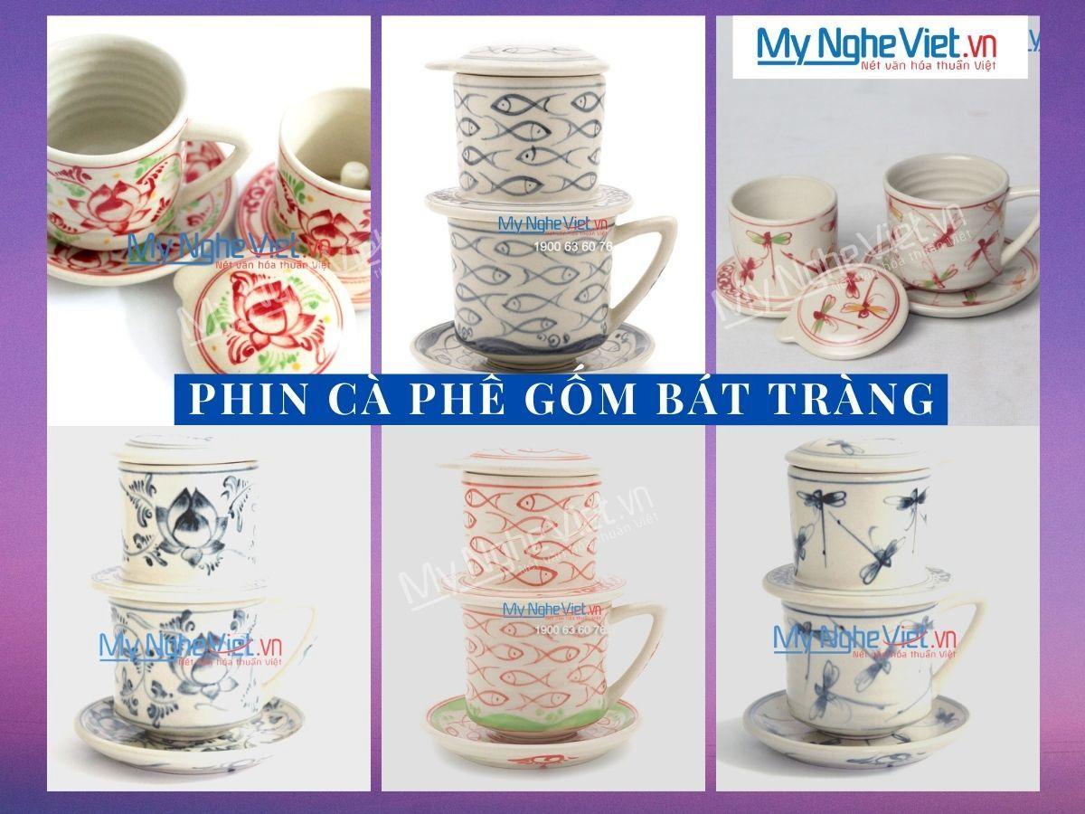 Phin cà phê trung gốm Bát Tràng
