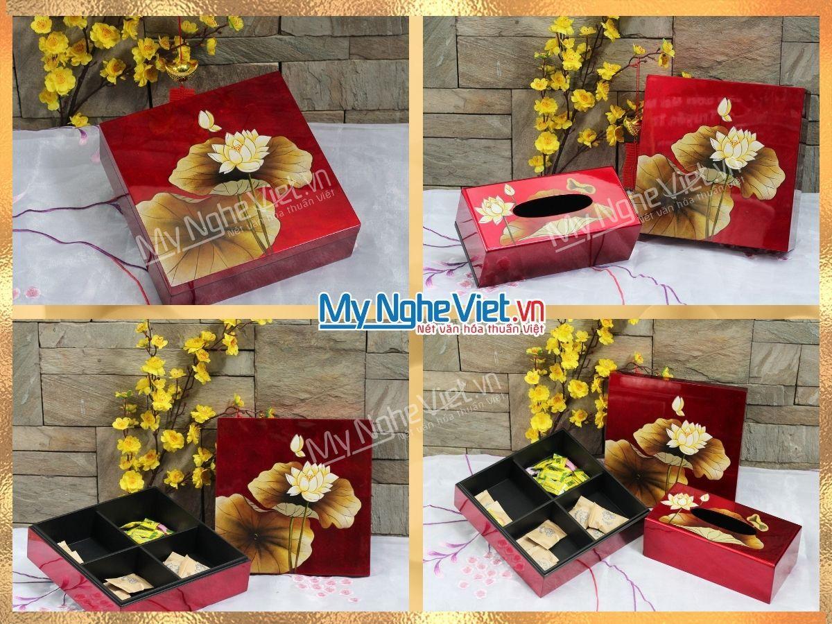 Quà tết tặng đối tác hoa sen